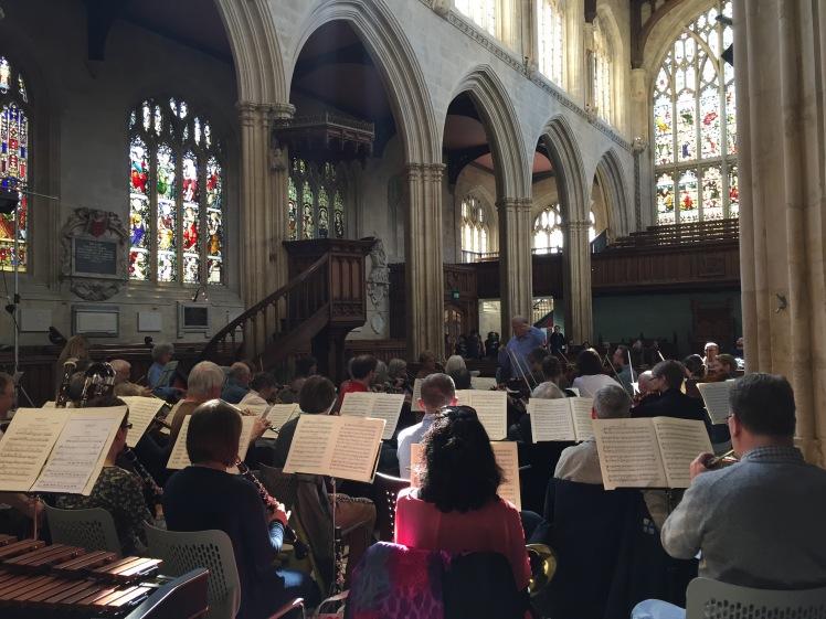 Recital inside the church
