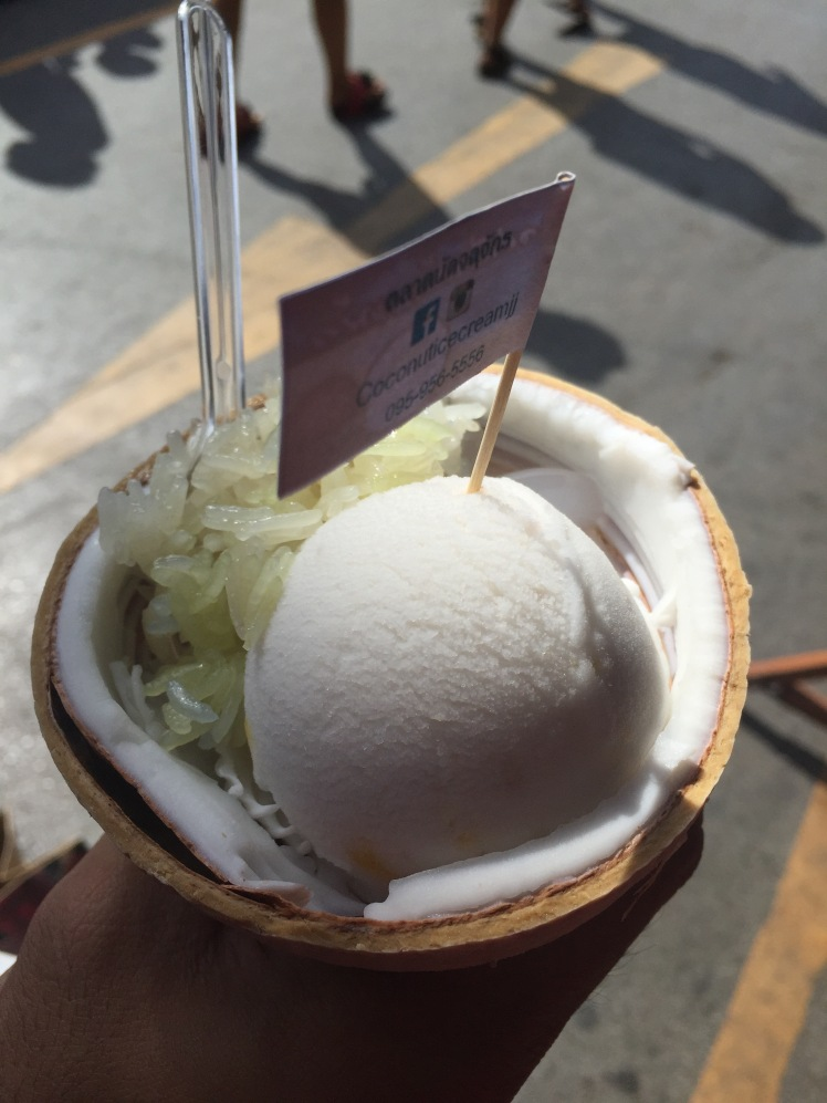 coconut ice-cream...in a coconut! Yay!