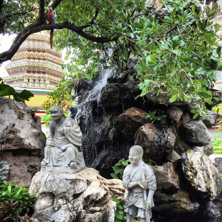 Finding Zen in one of the many temples...